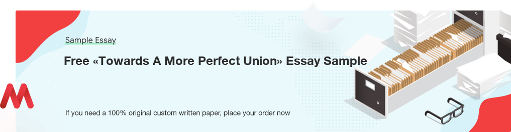 Buy custom Towards A More Perfect Union essay